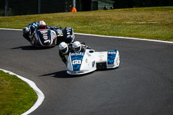 Gary Bryan and Phil Hyde at International Sidecar Revival, Cadwell Park, Lincolnshire, June 2018. Photo: Neil Houltby