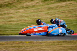 Andy Peach and Ken Edwards at International Sidecar Revival, Cadwell Park, Lincolnshire, June 2018. Photo: Neil Houltby