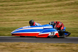 Nev Jones and Adam Nix at International Sidecar Revival, Cadwell Park, Lincolnshire, June 2018. Photo: Neil Houltby