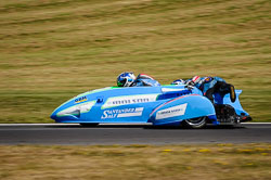 Todd Ellis and Charlie Richardson at International Sidecar Revival, Cadwell Park, Lincolnshire, June 2018. Photo: Neil Houltby