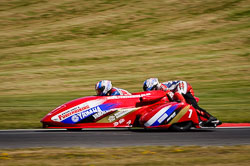 Brian Gray and Jason Pitt at International Sidecar Revival, Cadwell Park, Lincolnshire, June 2018. Photo: Neil Houltby