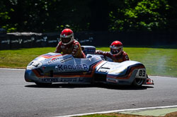 Dennis Bingham and Julia Bingham at International Sidecar Revival, Cadwell Park, Lincolnshire, June 2018. Photo: Neil Houltby
