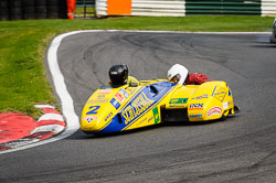 Rolf Biland and  at International Sidecar Revival, Cadwell Park, Lincolnshire, June 2018. Photo: Neil Houltby