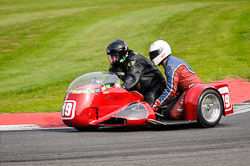 Howard Langham and  at International Sidecar Revival, Cadwell Park, Lincolnshire, June 2018. Photo: Neil Houltby
