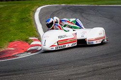 Steve Webster and Paul Woodhead at International Sidecar Revival, Cadwell Park, Lincolnshire, June 2018. Photo: Neil Houltby