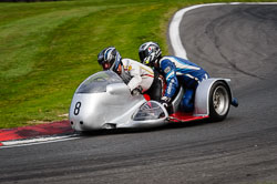 Steve Noble and  at International Sidecar Revival, Cadwell Park, Lincolnshire, June 2018. Photo: Neil Houltby