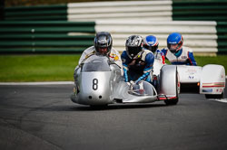 Steve Noble at International Sidecar Revival, Cadwell Park, Lincolnshire, June 2018. Photo: Neil Houltby