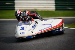 Carl Parkinson and Darren Tritton at International Sidecar Revival, Cadwell Park, Lincolnshire, June 2018. Photo: Neil Houltby