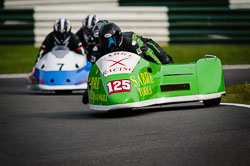 Nigel Thomas at International Sidecar Revival, Cadwell Park, Lincolnshire, June 2018. Photo: Neil Houltby