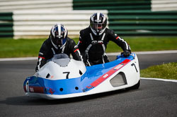 Chris Wright and Paul Bailey at International Sidecar Revival, Cadwell Park, Lincolnshire, June 2018. Photo: Neil Houltby