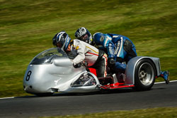 Stephen Noble at International Sidecar Revival, Cadwell Park, Lincolnshire, June 2018. Photo: Neil Houltby