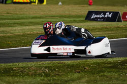 Colin Rust and  at International Sidecar Revival, Cadwell Park, Lincolnshire, June 2018. Photo: Neil Houltby
