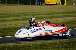 Carl Parkinson at International Sidecar Revival, Cadwell Park, Lincolnshire, June 2018. Photo: Neil Houltby