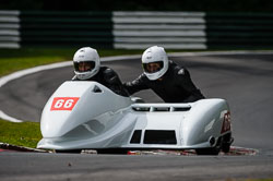 Kevin Hunt and Alan Cracknell at International Sidecar Revival, Cadwell Park, Lincolnshire, June 2018. Photo: Neil Houltby