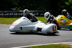Mike Bellaby and Dave Gristwood at International Sidecar Revival, Cadwell Park, Lincolnshire, June 2018. Photo: Neil Houltby