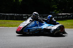 Craig Goodier and Pete Founds at International Sidecar Revival, Cadwell Park, Lincolnshire, June 2018. Photo: Neil Houltby