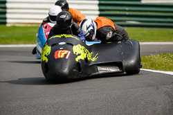 David Schofield and David Hammomd at International Sidecar Revival, Cadwell Park, Lincolnshire, June 2018. Photo: Neil Houltby