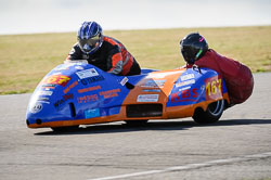 Wesley Pettman and Sue Taylor at Wirral 100, Anglesey Circuit, Anglesey, July 2018. Photo: Neil Houltby