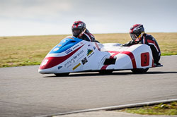 Conrad Harrison and Andy Winkle at Wirral 100, Anglesey Circuit, Anglesey, July 2018. Photo: Neil Houltby