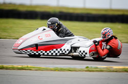 John Shipley and Jon Saidi at Wirral 100, Anglesey Circuit, Anglesey, July 2018. Photo: Neil Houltby