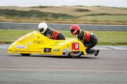 Gordon Shand and Tony Belsey at Wirral 100, Anglesey Circuit, Anglesey, July 2018. Photo: Neil Houltby