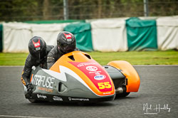 Giles Stainton and Jen Stainton at EMRA, Mallory Park, Leicestershire, April 2019. Photo: Neil Houltby