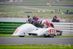 Mike Cookson and Kenny Cole at EMRA, Mallory Park, Leicestershire, April 2019. Photo: Neil Houltby