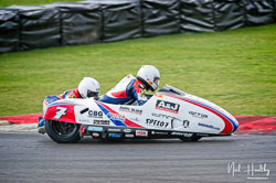 Dave Molyneux and Harry Payne at NG Road Racing, Snetterton, Norfolk, April 2019. Photo: Neil Houltby