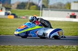 Simon Robinson and Kerry Hughes at NG Road Racing, Snetterton, Norfolk, April 2019. Photo: Neil Houltby