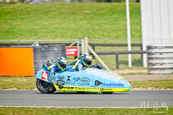 Alan Founds and Jake Lowther at NG Road Racing, Snetterton, Norfolk, April 2019. Photo: Neil Houltby