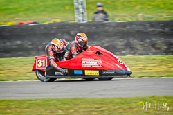 Nicolas Dukes and William Moralee at NG Road Racing, Snetterton, Norfolk, April 2019. Photo: Neil Houltby