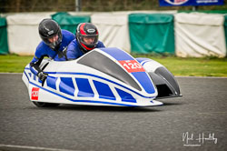 Andy Thomas and Joanne Thomas at EMRA, Mallory Park, Leicestershire, April 2019. Photo: Neil Houltby