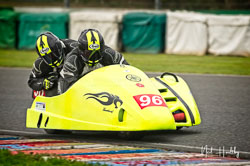 Ian Sutcliffe and Rob Bryant at EMRA, Mallory Park, Leicestershire, April 2019. Photo: Neil Houltby