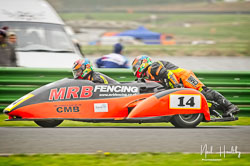 Mark Burns and Steven Winfrow at EMRA, Mallory Park, Leicestershire, April 2019. Photo: Neil Houltby