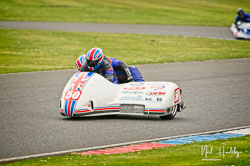 Jody Sims and Reece Sims at EMRA, Mallory Park, Leicestershire, April 2019. Photo: Neil Houltby
