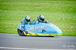 Alan Founds and Jake Lowther at NG Road Racing, Donington Park, Leicestershire, May 2019. Photo: Neil Houltby