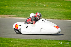 Charles Morphet and Paul Halliburton at NG Road Racing, Donington Park, Leicestershire, May 2019. Photo: Neil Houltby